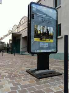 Affiche de l'exposition Transports devant les Halles Boulingrin 2013